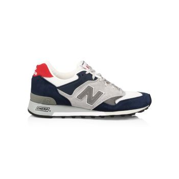 577 V1 Mix Media Leather Low-Top Sneakers New Balance