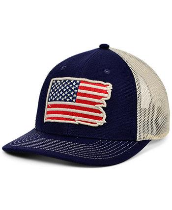 Местные короны Соединенные Штаты Америки изогнутая кепка с разорванным и потрепанным флагом Lids