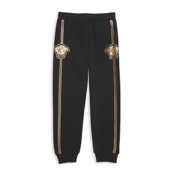 Little Boy's & amp; Спортивные штаны для мальчиков с золотистым логотипом Versace