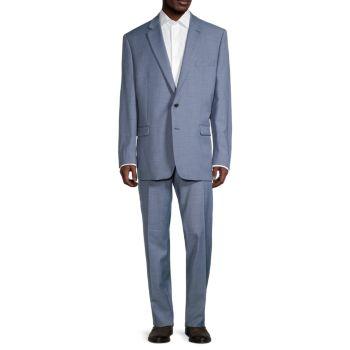 Reguluar-Fit Textured Wool-Blend Suit LAUREN Ralph Lauren