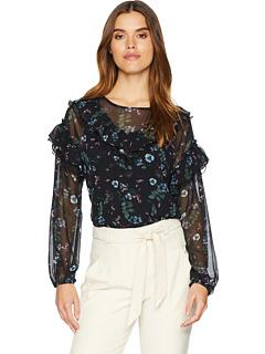 Зимняя ночная цветочная блузка KSNK4772 Kensie