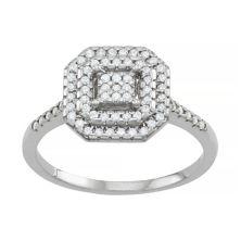 Тиара из стерлингового серебра 1/3 карата T.W. Кольцо-кластер с бриллиантами Tiara