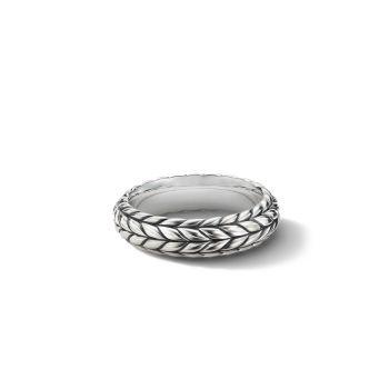 Серебряное кольцо с шевроном Station David Yurman