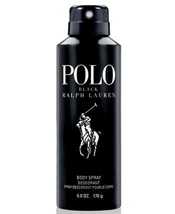 Мужской поло черный спрей для тела, 6 унций Ralph Lauren