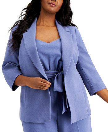 Plus Size Open-Front Blazer, Created for Macy's Bar III