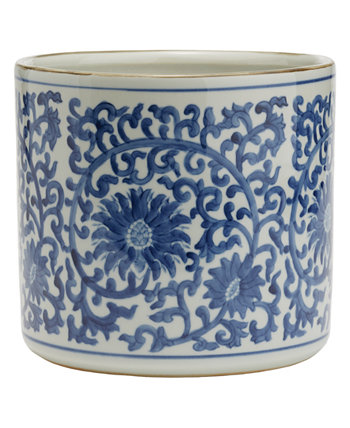Blue and White Lotus Flower Planter Two's Company