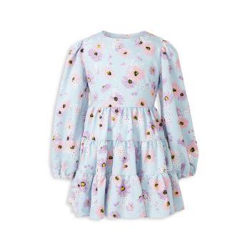 Girl's Ella Floral Tiered Dress Bardot Junior