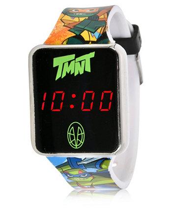 Детские часы с сенсорным экраном Teenage Mutant Ninja Turtles со светодиодной подсветкой на черном силиконовом ремешке, 36 мм x 33 мм ACCUTIME