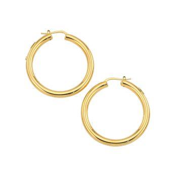Классические маленькие трубчатые обручи из желтого золота 18 карат Roberto Coin