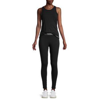 2-Piece Solid Tank Top & Leggings Set Calvin Klein