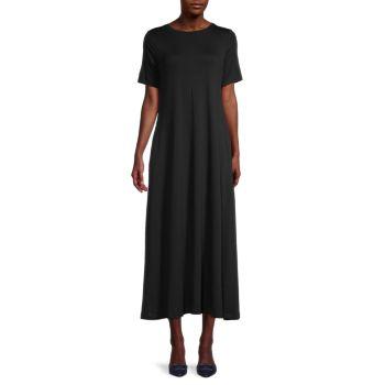 Платье-футболка миди с короткими рукавами Eileen Fisher