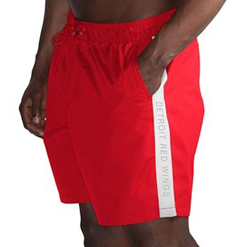 Men's G-III Sports by Carl Banks Red/White Detroit Red Wings Volley Swim Shorts G-III