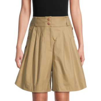 Buttoned Cotton Shorts See by Chloe