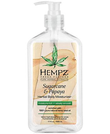 Увлажняющий крем для тела Fresh Fusions с сахарным тростником и папайей, 17 унций, от PUREBEAUTY Salon & Spa Hempz