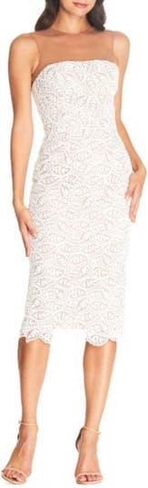 Коктейльное платье без бретелек с кружевом Tegan Dress the Population
