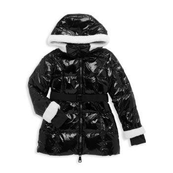 Пальто из овечьей шерсти с лаком для девочек SAM