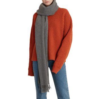 Шерстяной шарф с бахромой Acne Studios