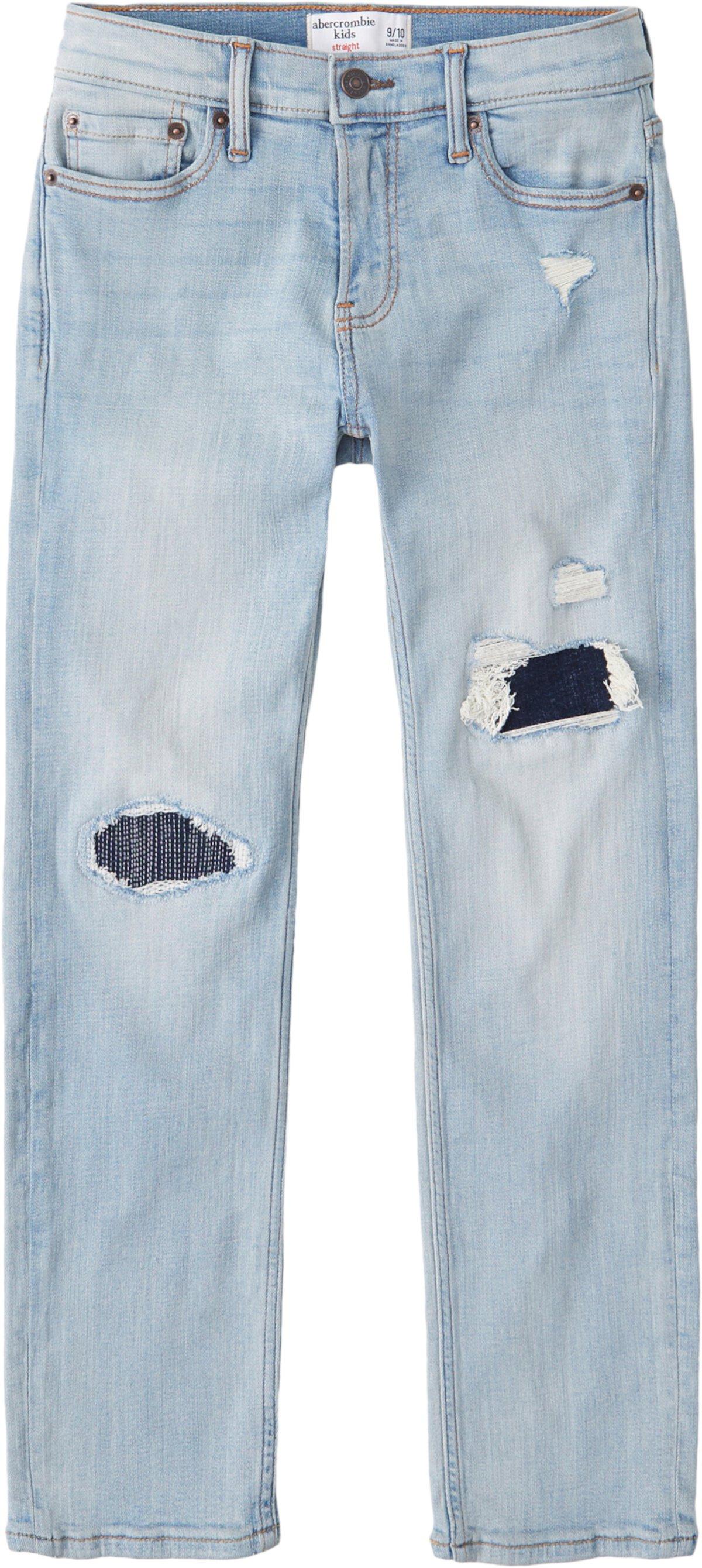 Straight Leg Destroy в темно-синем цвете (Маленькие дети / Старшие дети) Abercrombie kids