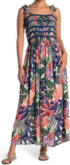 Tie Strap Smocked Maxi Dress Angie