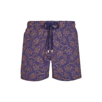 Gilb Tropical Floral-Embroidered Swim Trunks VILEBREQUIN