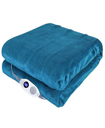 "Heated Throw Velour with Sherpa Reverse, 50"" x 60"" Westinghouse"