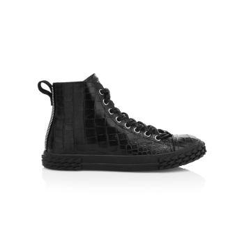 Высокие кроссовки с тиснением под крокодиловую кожу Giuseppe Zanotti