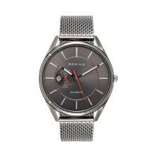 BERING Men's Automatic Gunmetal Stainless Steel Mesh Watch - 16243-377 Bering