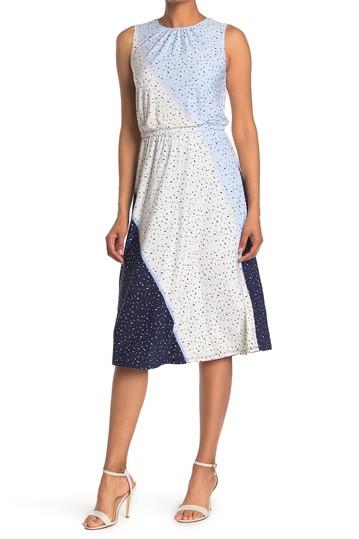 Платье из джерси с текстурным принтом и крапинками London Times