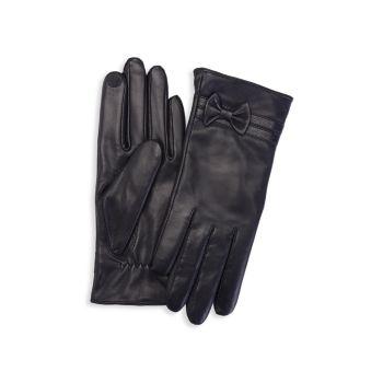 Кожаные перчатки с кашемировой подкладкой для сенсорного экрана ROYCE New York