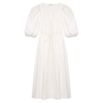Платье миди с вышивкой Roxitane Maje