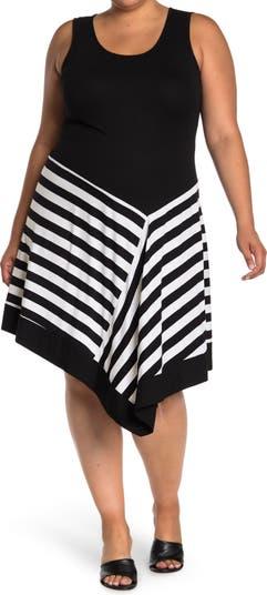 Платье в полоску с асимметричным подолом Spense