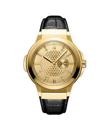 Мужские часы Saxon Diamond (1/6 карат. Т. Вес) из 18-каратного позолоченного часового механизма из нержавеющей стали 48 мм JBW
