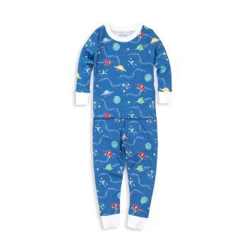 Комплект из двух частей пижамы с межгалактическим принтом для маленьких мальчиков Kissy Kissy