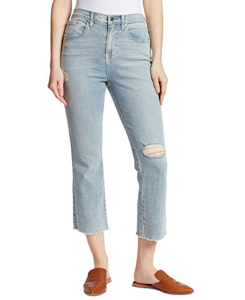 Укороченные расклешенные джинсы с высокой талией Ella Moss
