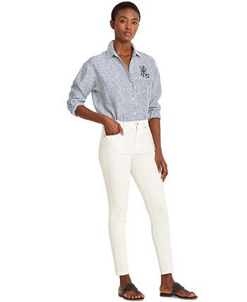 Укороченные джинсы с высокой посадкой Ralph Lauren