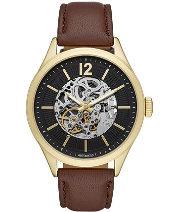 Мужские коричневые часы с автоподзаводом 46мм Folio