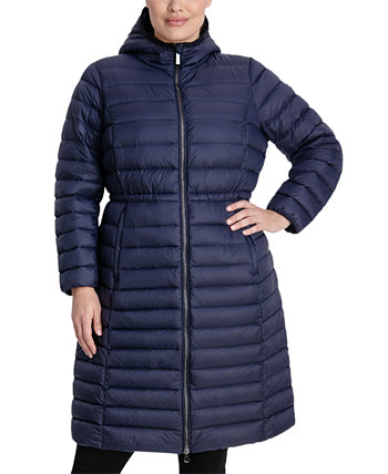 Plus Size Hooded Packable Puffer Coat, Created for Macy's Michael Kors