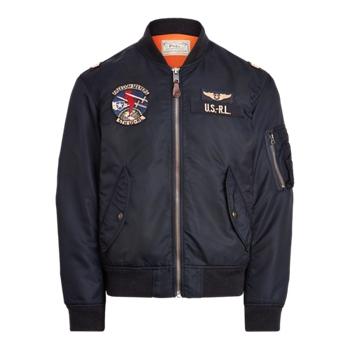 Куртка-бомбер из твила Ralph Lauren