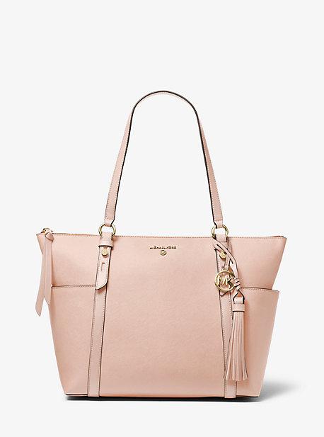 Большая сумка-сумка на молнии с сафьяновой кожей Nomad Michael Kors