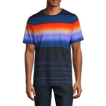 Multi-Stripe Short-Sleeve T-Shirt BUGATCHI