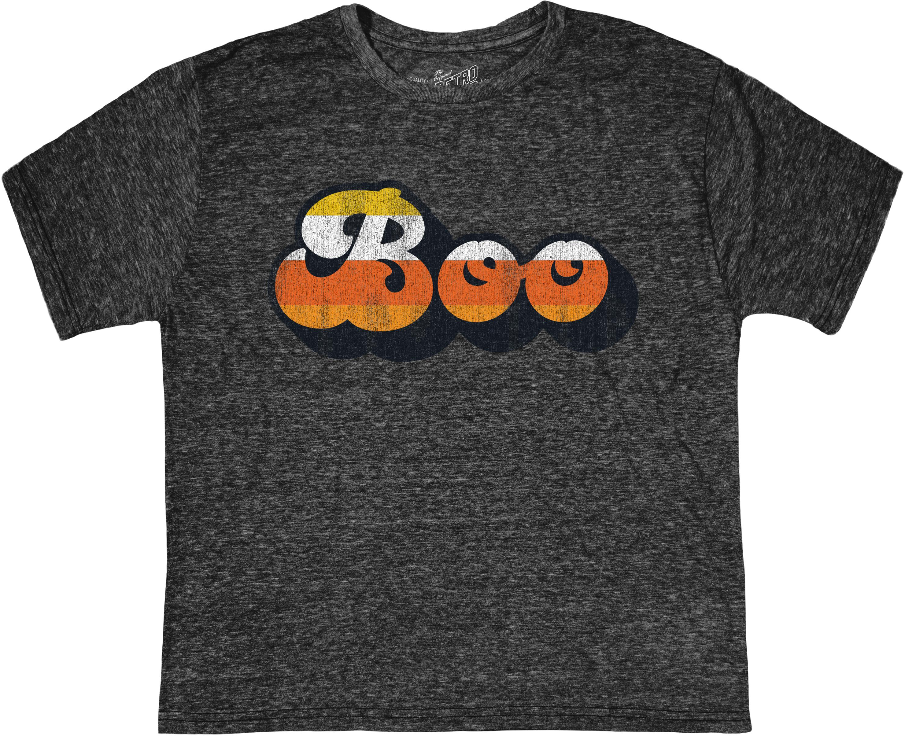 Футболка Tri-Blend Boo Halloween с круглым вырезом (для малышей) The Original Retro Brand Kids