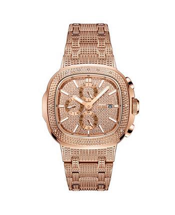 Мужские часы с бриллиантом (1/5 карата) из нержавеющей стали с покрытием из 18-каратного розового золота Часы 48 мм JBW