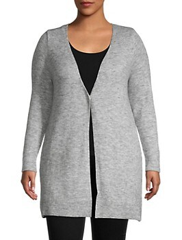 Heathered V-Neck Cardigan ESTELLE