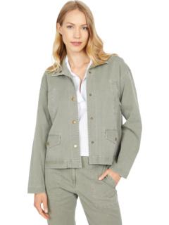 Куртка из хлопкового тенселя на кнопках с карманом карго Elliott Lauren