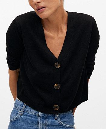 Women's Button Knit Cardigan MANGO