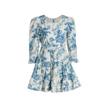 Мини-платье Lienzo с цветочным рисунком LOVESHACKFANCY