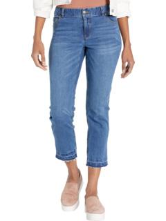 Выбеленные эластичные джинсовые джинсы с пятью карманами с потрепанным подолом в джинсовой ткани Elliott Lauren