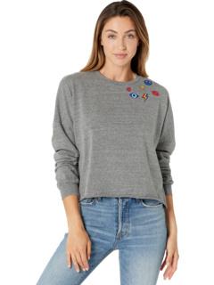 Укороченный свитшот-пуловер Lee Peace Hand Elements Lauren Moshi