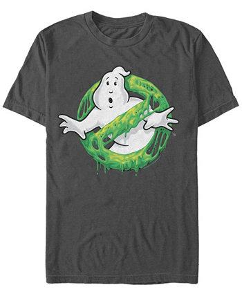 Мужская классическая тонкая футболка с короткими рукавами и логотипом призрака Sony Ghostbusters