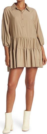 Платье-рубашка на пуговицах с оборками Mustard Seed
